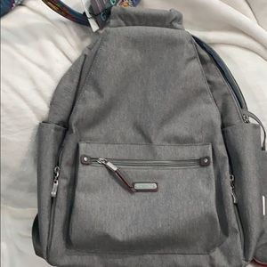 BAGGALLINI All Day Backpack with RFID, Gray